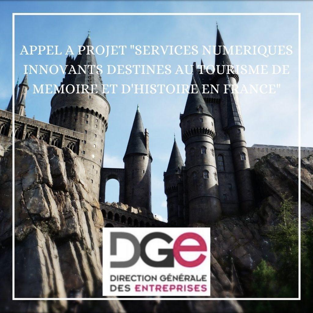 """Appel à projet """"Services numériques innovants destinés au tourisme de mémoire et d'histoire en France"""""""